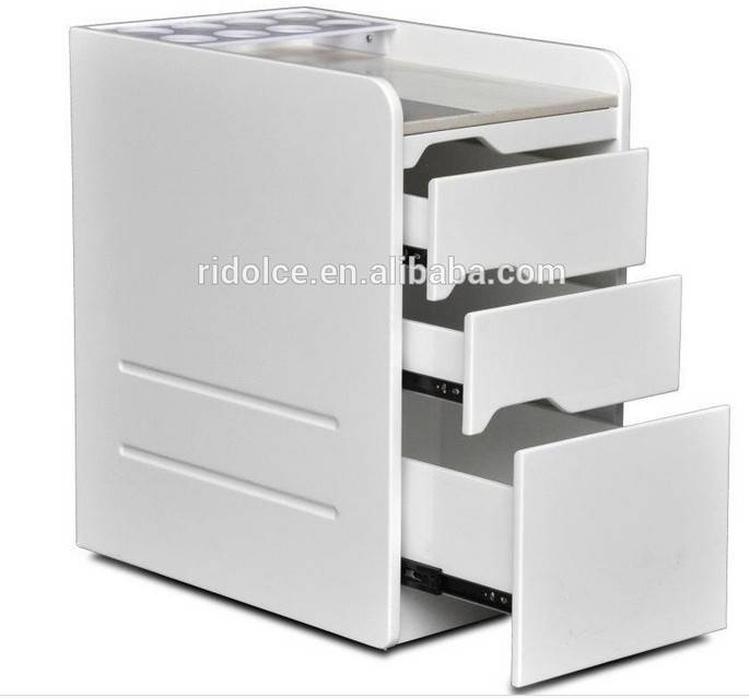 Nail salon used high quality manicure drawer storage salon trolley with cabinet