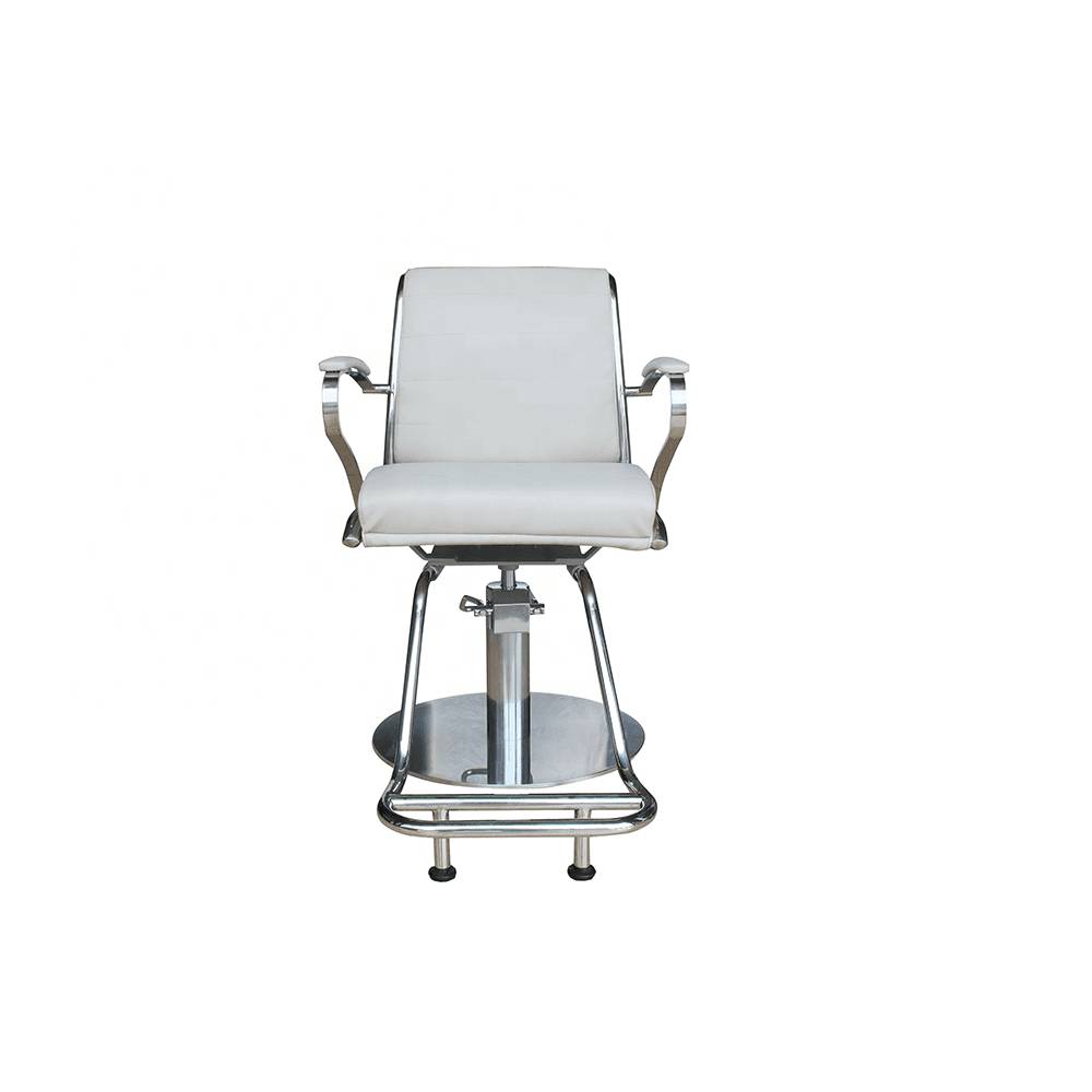 Wholesale fashion white beauty equipment synthetic leather salon hair cutting chair hydraulic baber styling chair