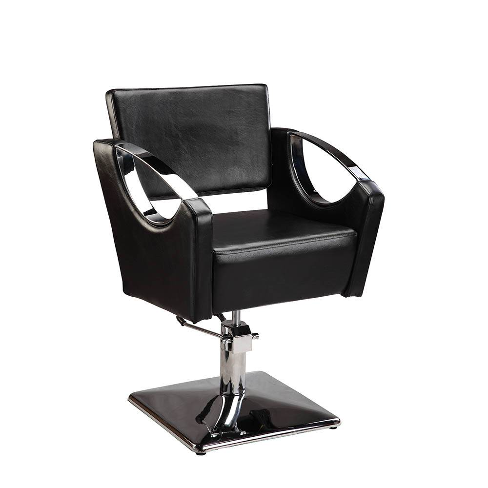 Mingyi black Hair Beauty Salon Equipment Square Base Hydraulic Barber Styling Chair