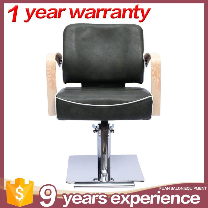 guangzhou hot sale synthetic leather black barber chair