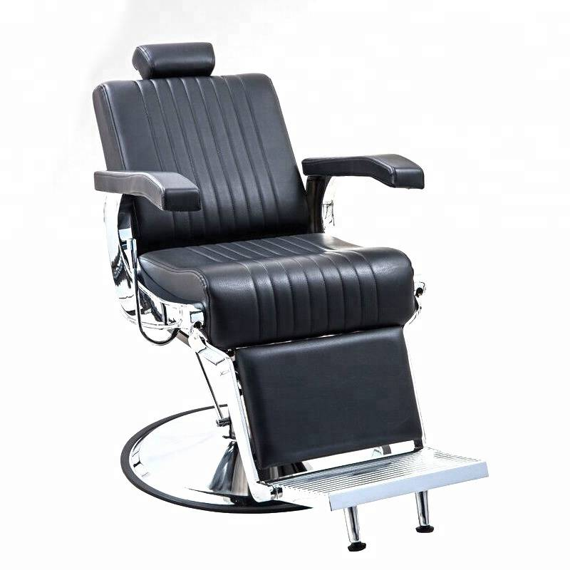 Hot selling big barber shop equipment synthetic leather hairdressing chairs salon styling man reclining black barber chair