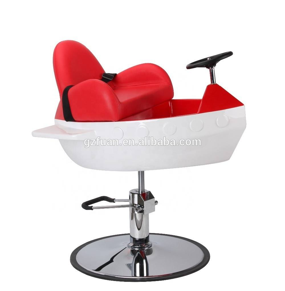 Hot selling cartoon cute red hairdressing hair cutting styling children baby barber chair kids salon chair for sale cheap