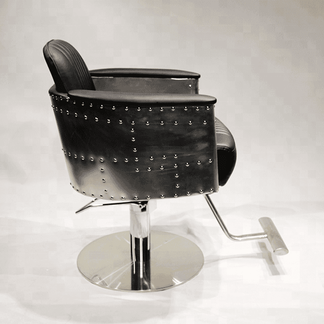 China beauty professional luxury antique styled used cheap barber black styling salon barber cutting salon hair dressing chair