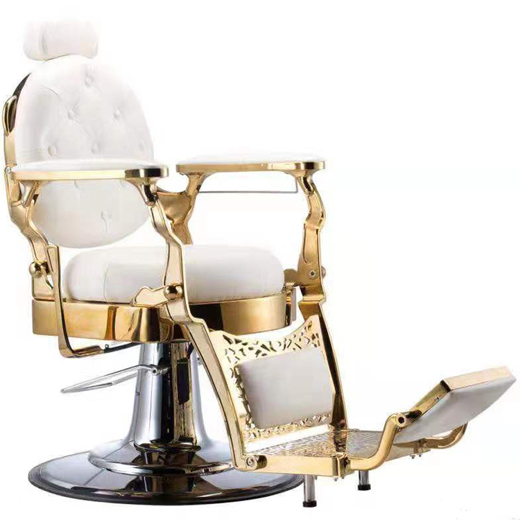 heavy duty vintage beauty salon chair hydraulic hair salon grooming white leather barber chair