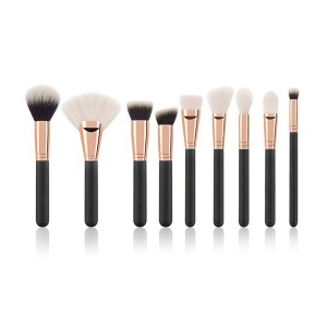 OEM Cruelty free 9 pieces makeup brushes set