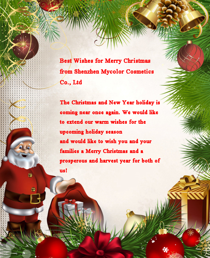 Merry Christmas from Shenzhen MyColor Cosmetics Co.,Ltd
