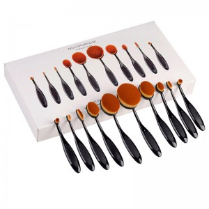 Factory Free sample Rose Gold Makeup Oval Brush -