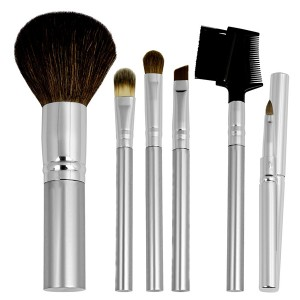 Private label vegan hair travel makeup brush kit