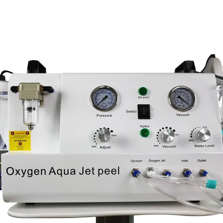 Latest water jet + vacuum SPA + spray 3 functions oxygen peel machine for skin care