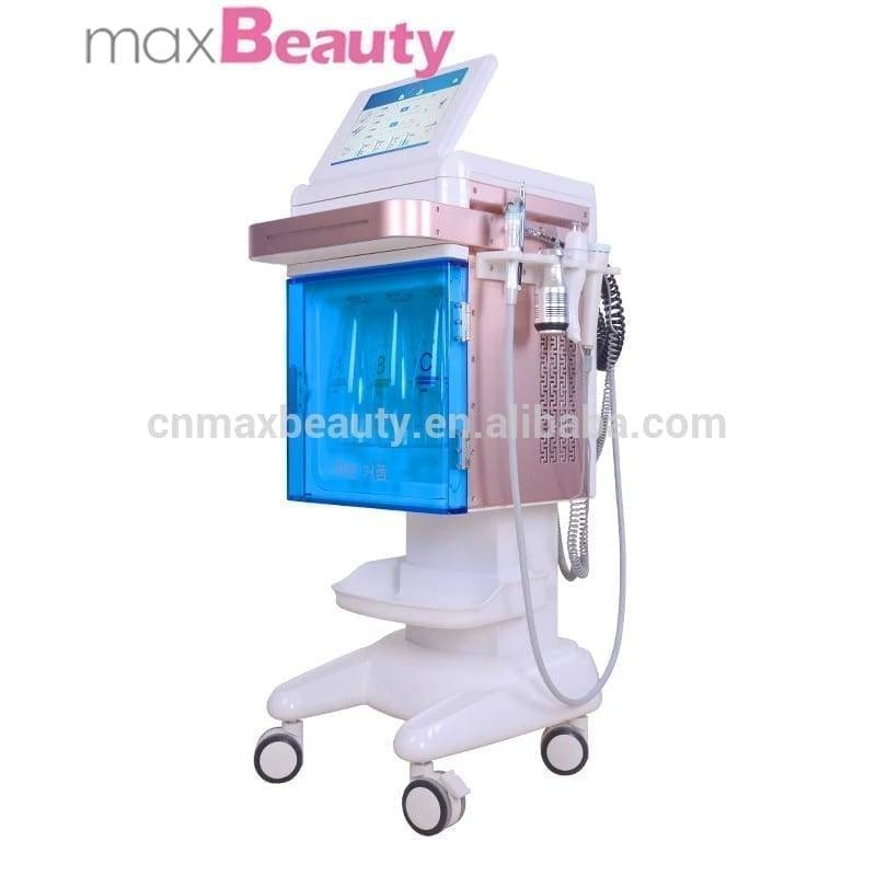water facial beauty machine system for oxygen facials /oxygen jet with cosmetic.For face and body treatments
