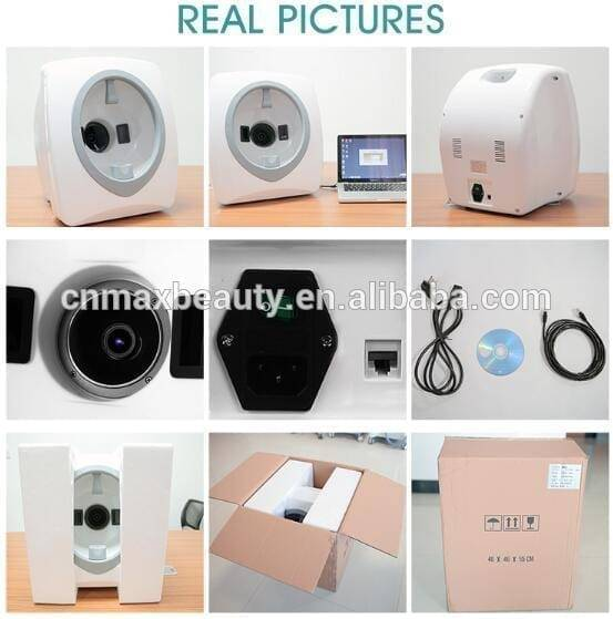 professional hair or skin analysis iris scanner machine connect with computer