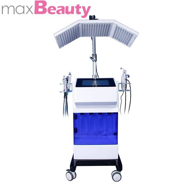 8in1 Aqua machine PDT led threapy essence infusion 7 colours led light water dermabersion for Oxygen jet & oxygen facial