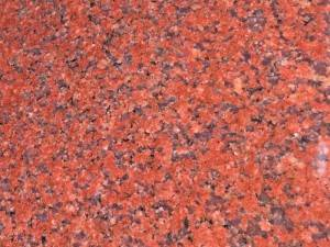 India red granite stair steps & risers