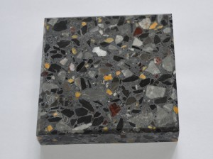 DXW215 black with yellow chips terrazzo tiles