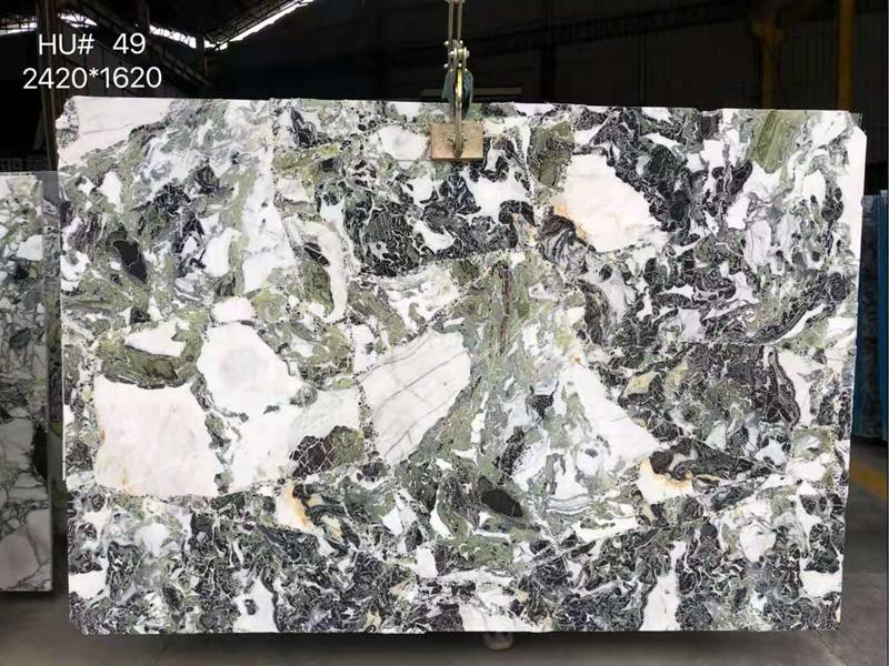 ice cold green marble slab