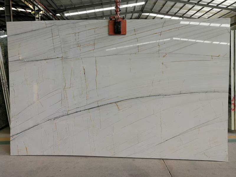 Brazil river white quartzite slab