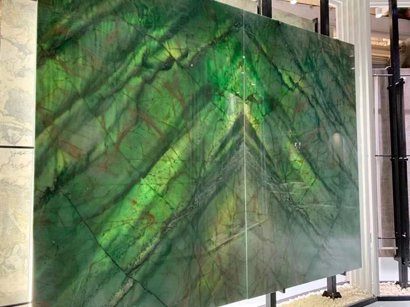 Nature vinci green quartzite slab