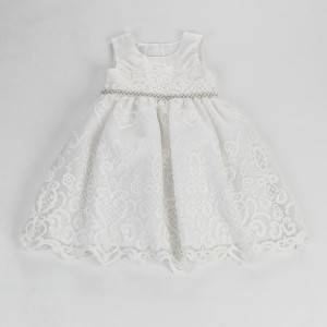 Hot new products kid clothes flower Birthday Children Baby Girls Party Dress Design NBHEY020