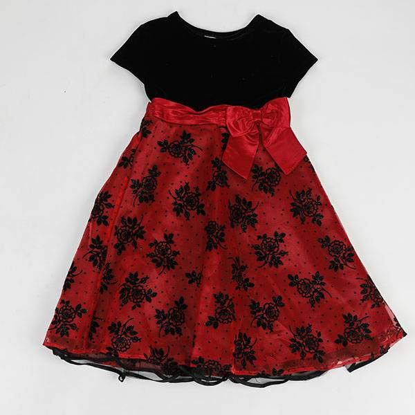 Hot new products kid clothes flower Birthday Children Baby Girls Party Dress Design NBHEY037 Featured Image
