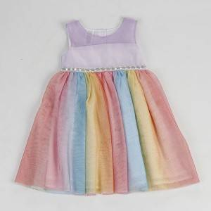 Hot new products kid clothes flower Birthday Children Baby Girls Party Dress Design NBHEY022