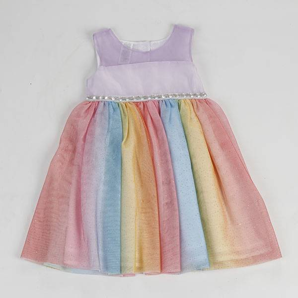 Hot new products kid clothes flower Birthday Children Baby Girls Party Dress Design NBHEY022 Featured Image