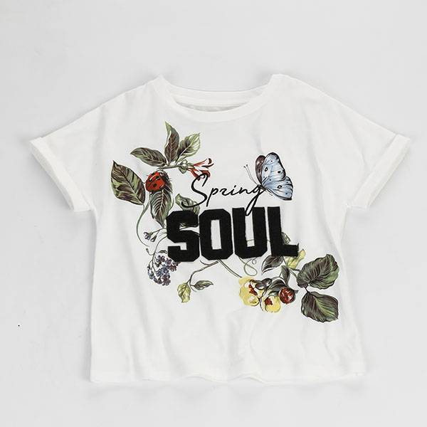 Children Kids Girl Casual Clothes  Cotton Summer T Shirt-002 Featured Image