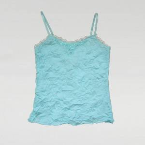 Spaghetti Strap Top Girls One Piece Style Knitted Crop Tops