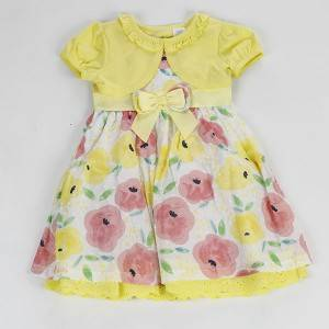 Latest design lovely fancy children baby girls autumn casual dress NBHEY023