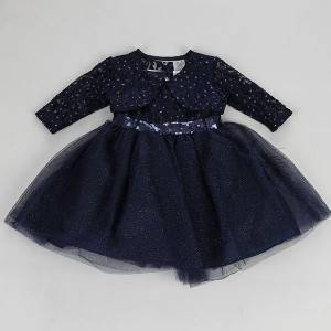 Latest design lovely fancy children baby girls autumn casual dress NBHEY024