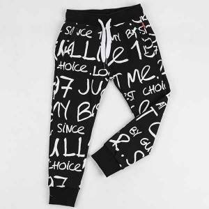 Hot Produktbabyklær barn Pants Printted Strikket Harem Pants for gutter