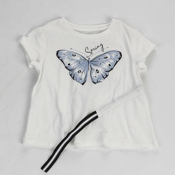 Children Kids Girl Casual Clothes  Cotton Summer T Shirt-001 Featured Image