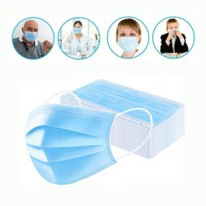 Foldable Disposable Face Mask Non-woven 3 Ply Disposable Face Mask