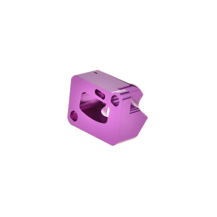 Aluminum block Custom casting parts with cnc machining Raw material discharge machining Anodizing treatment