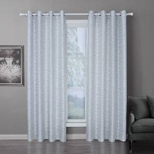 2021 new polyester leaf jacquard curtain, suitable for living room and bedroom/Curtain Series-201216