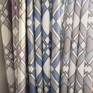 80% shading /200GSM single-side fabric geometric-printed shading curtain/Curtain Series-707-11