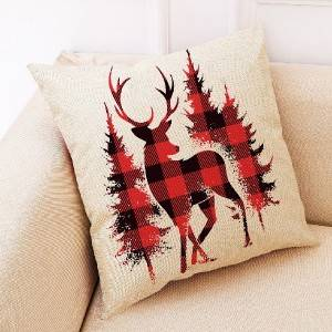 Christmas series, digital printed linen cushion cover/printed pillowcase -707-100