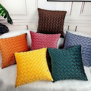 18″x18″ Velvet hand woven solid color pillow/simple modern cushion sample/cushion series-HS21548