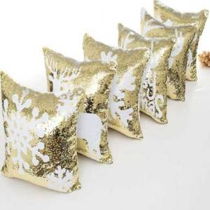 Best Selling Sequin Pillows / Reversible Cushions Square-HS21421