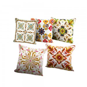 Canvas wool embroidered for office decoration/Cushion series/Embroidery Pillow-7818