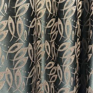 280GSM high compact fish pattern jacquard curtain/Curtain Series-204-51