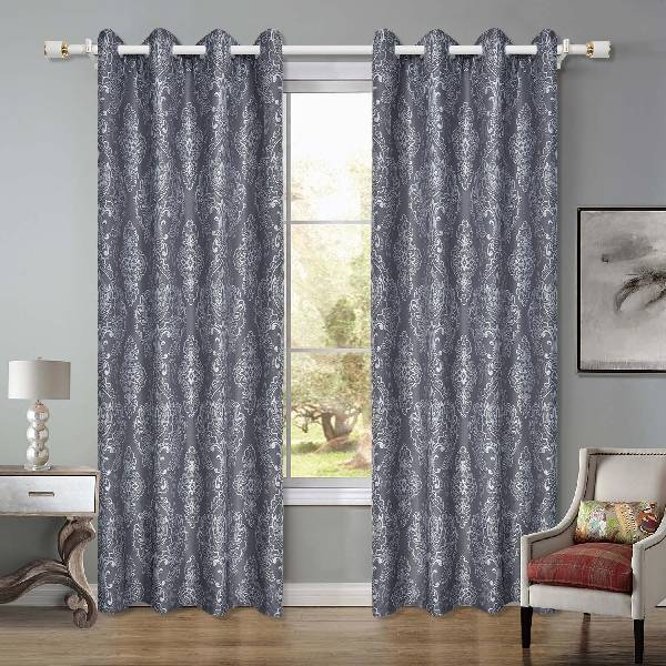 New polyester 140GSM jacquard curtain is suitable for living room and bedroom/Curtain Series-201213 Featured Image
