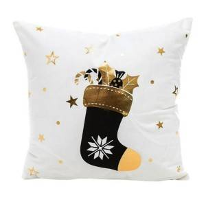 New 18″*18″ Christmas series short plush gold-embossed printed cushion cover/pillow cover/707-101