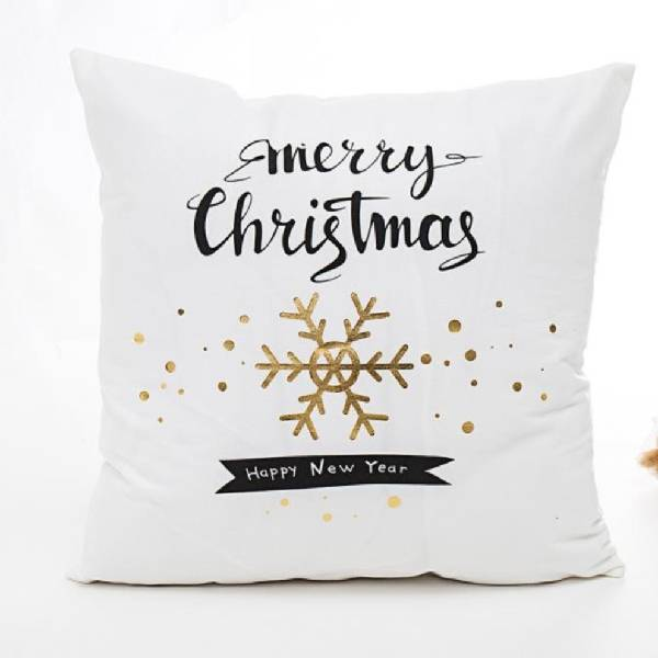 New 18″*18″ Christmas series short plush gold-embossed printed cushion cover/pillow cover/707-101 Featured Image