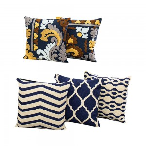 Simple European embroidered woolen cushion and pillow are suitable for sofa/cushion series/embroidery pillow-7697