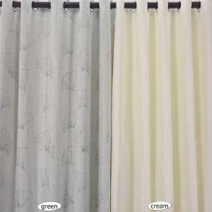 180g fan leaf jacquard curtain for bedroom, living room/Curtain Series-HS11359