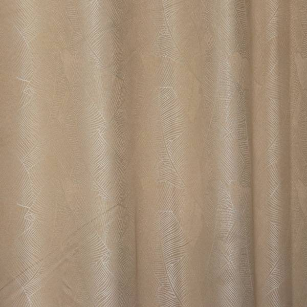 190GSM palm-leaf jacquard curtain, used for living room, bedroom/Curtain Series-jacquard-HS11444 Featured Image