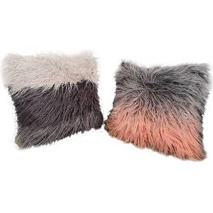 Best Selling Faux Fur Long Plush Pillows / Fake Fur Cushions/18″X18″-HS21133