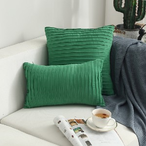 18″X18″Simple wind suede hand-pleated cushion pillow/cushion series-HS21541