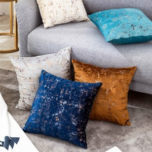 Modern and simple home cushion velvet plain bronzing pillowcase-Pillow Series-HS21564