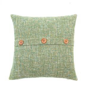 Simple wind button imitation hemp cushion for leaning on, suitable for office, living room sofa, bedroom/Pillow Series-XUE_8185